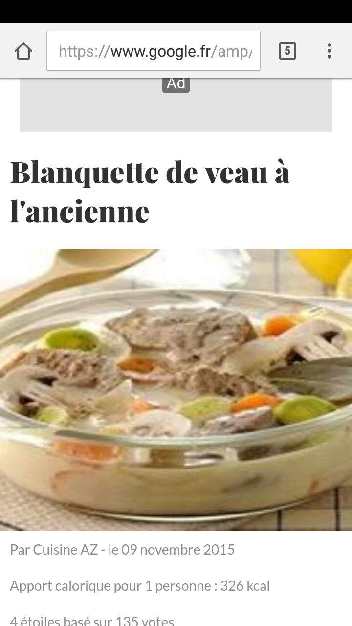 Blanquette De Veau A L Ancienne Recipes Pinterest Recipes