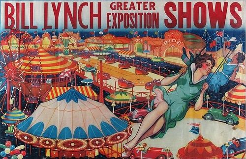 Up for Auction: Bill Lynch Shows Vintage Carnival Poster   Amusing ...