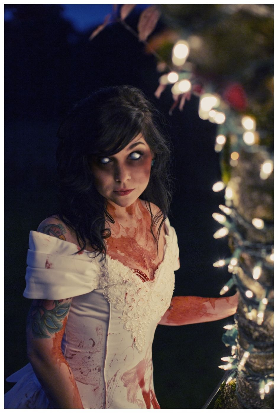 Zombie Styled Wedding Shoot at Northern Lights Christmas Tree Farm ...