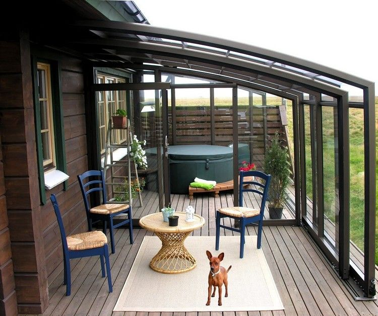 windschutz terrassen berdachung glas wetterschutz hund garten pinterest terrasse garten. Black Bedroom Furniture Sets. Home Design Ideas