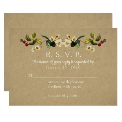 Floral country response cards wedding invitations cards custom floral country response cards wedding invitations cards custom invitation card design marriage party stopboris Images