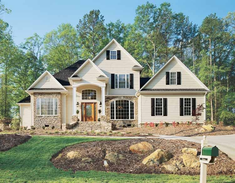 Eplans new american house plan powerful presence 2202 for Eplans mansions