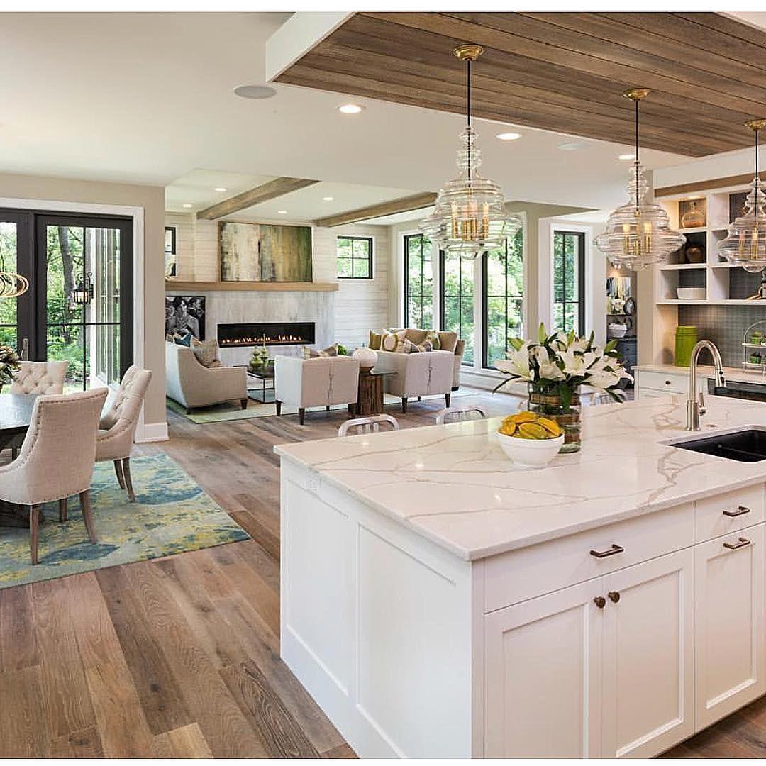 Great Neighborhood Homes Via Houzz Open Plan Kitchen Living Room Open Concept Kitchen Living Room Kitchen Concepts