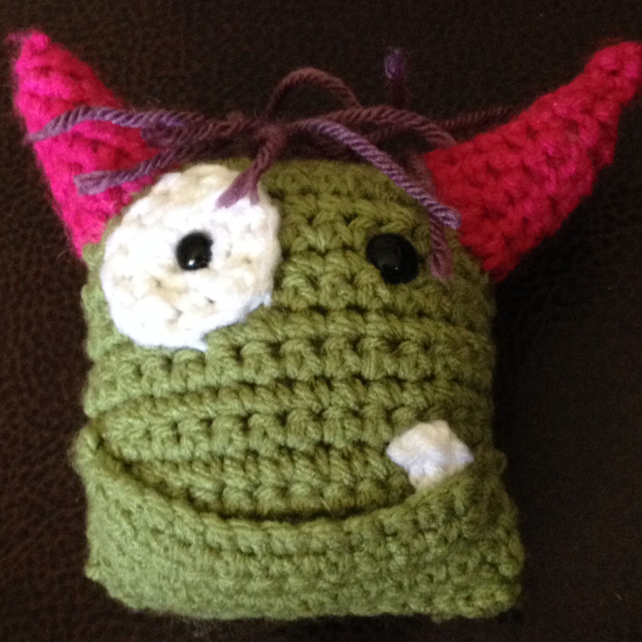 Crochet Tooth Fairy Monster Pillow