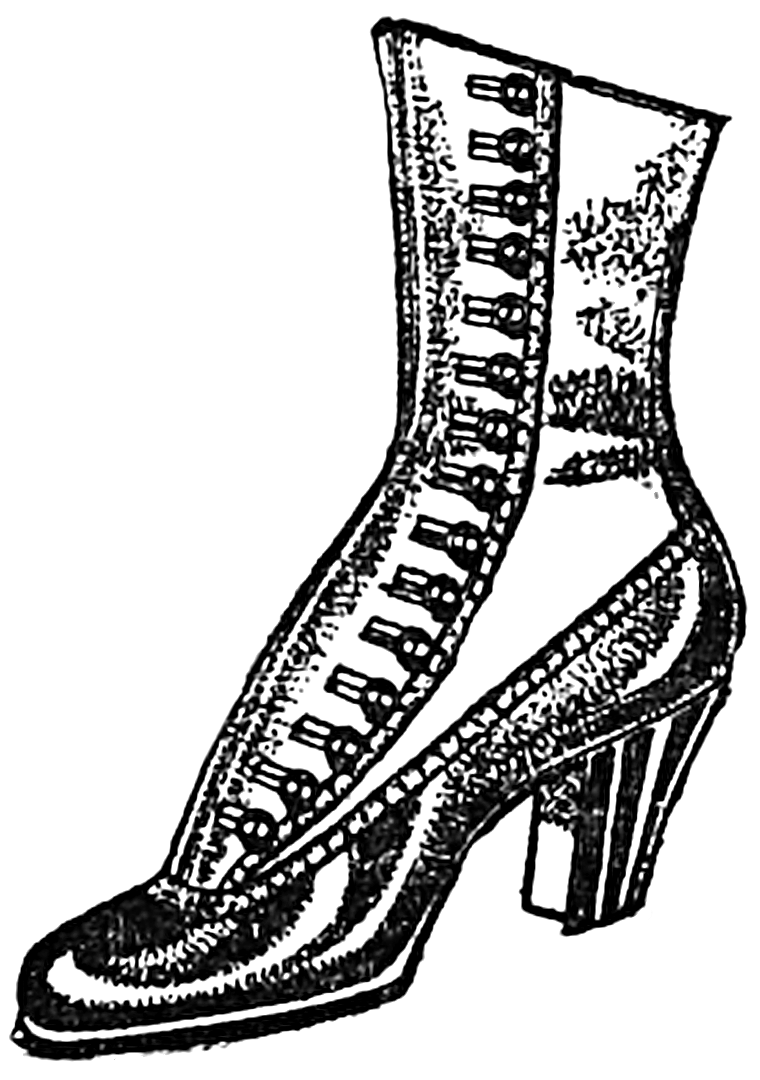 Vintage Woman's Boot public domain clipart | Graphics
