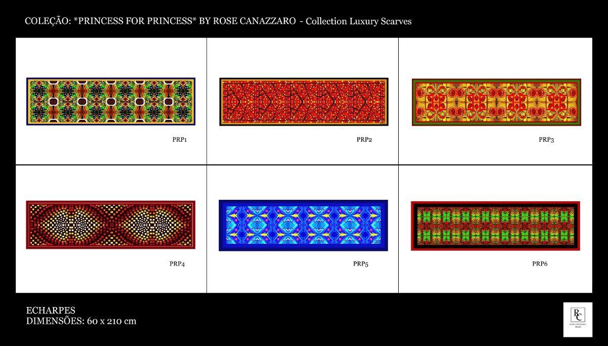 10 Echarpes Da Coleção Princess By Rose Canazzaro - Atacado - R$ 1.250,00 no MercadoLivre