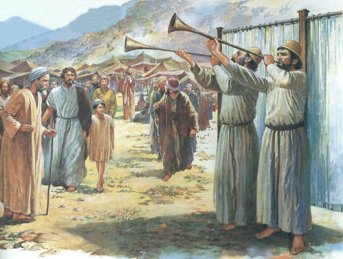 Call to worship at the Tabernacle of Moses. 油画, 画