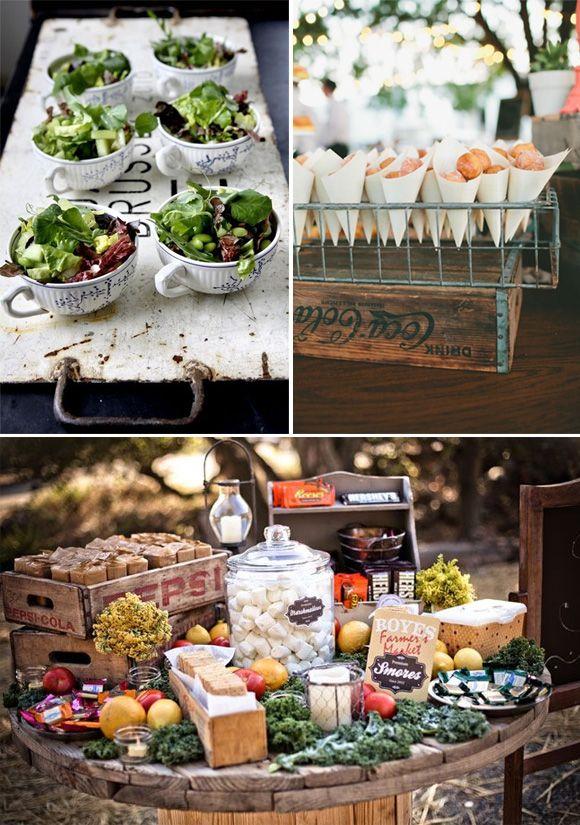 Ideas originales para presentar la comida en las bodas for Comidas originales