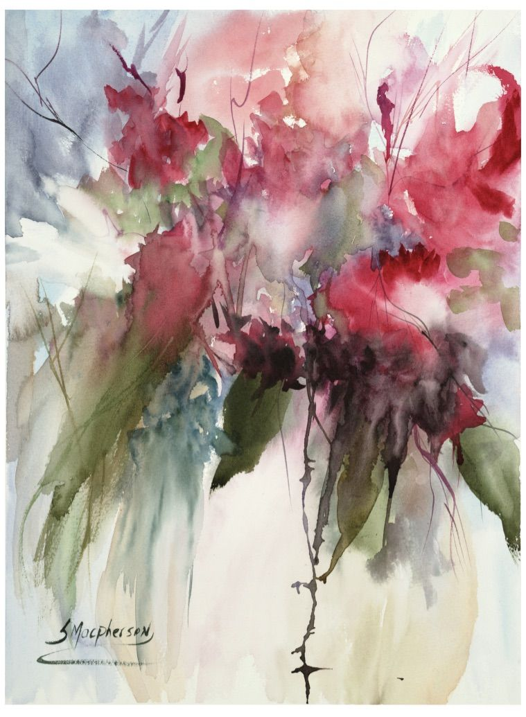 Poetry Of Flowers In 2020 Abstract Watercolor Watercolor