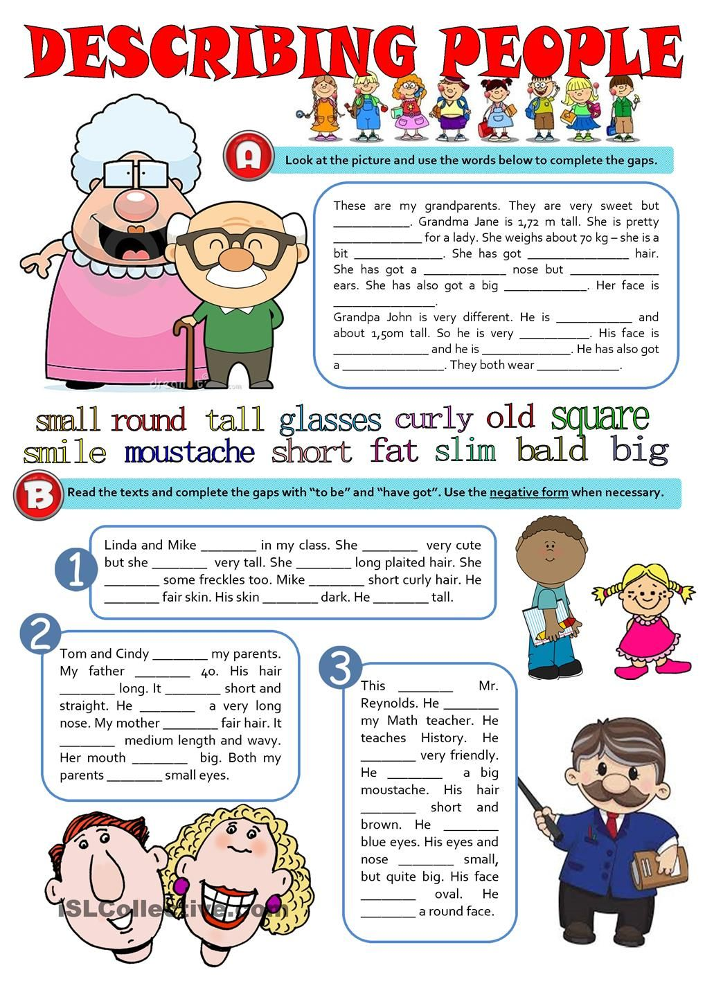 Physical Description Esl Worksheets Of The Day Learn