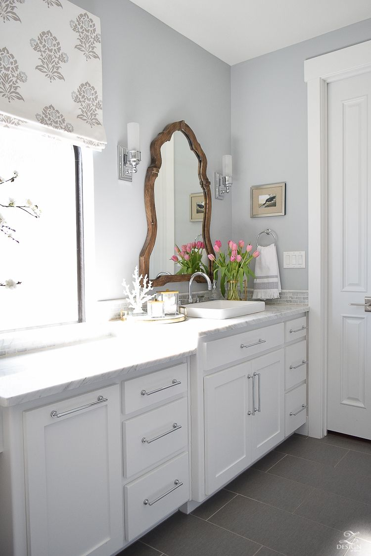 Tips For A Spring Refresh In The Master Suite White Cabinets - Master bathroom ideas with white cabinets