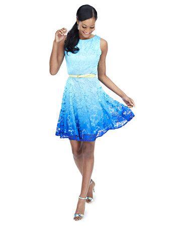 Shop Ombré Lace Dress. Find your perfect size online at the best ...