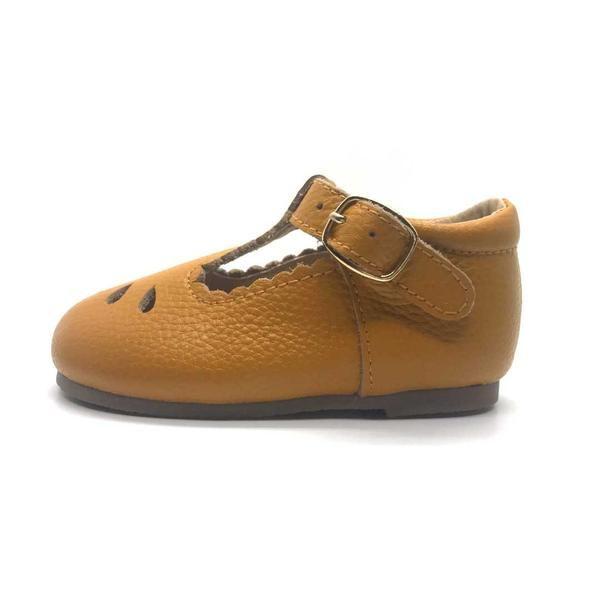 Brighton T Bar Butterscotch Toddler Shoes Durable Shoes
