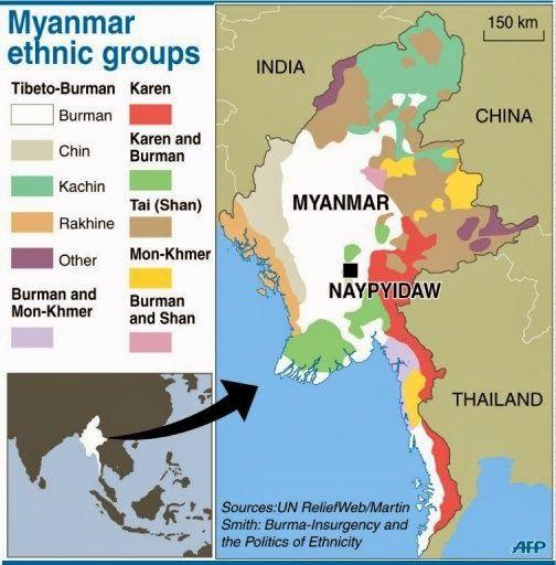 Burma ethnic map misiones pinterest burma ethnic map sciox Image collections