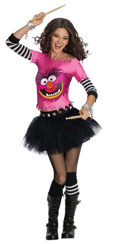 Muppets Halloween Costume Animal Female Costume For teen girls and - black skirt halloween costume ideas