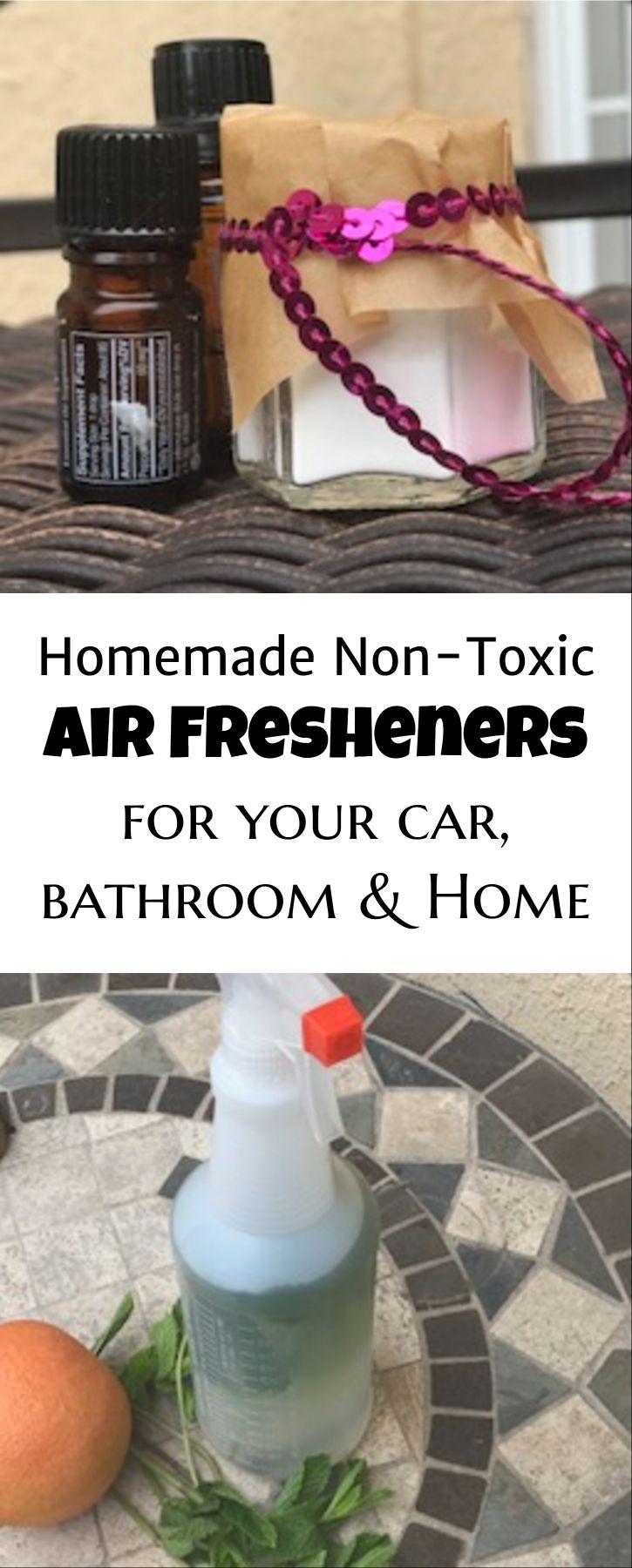 2 Homemade NonToxic Air Fresheners for Bathroom & Car
