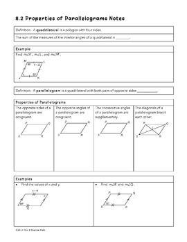 Properties Of Parallelograms Worksheet Answers - worksheet