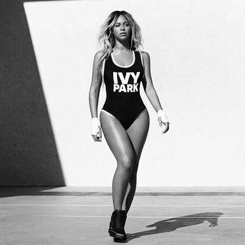 2017 damen Strand Beyonce Overall IVY PARK Buchstaben Gedruckt Badeanzug Junge Mädchen Lustige Body Frauen Tanzen Bademode