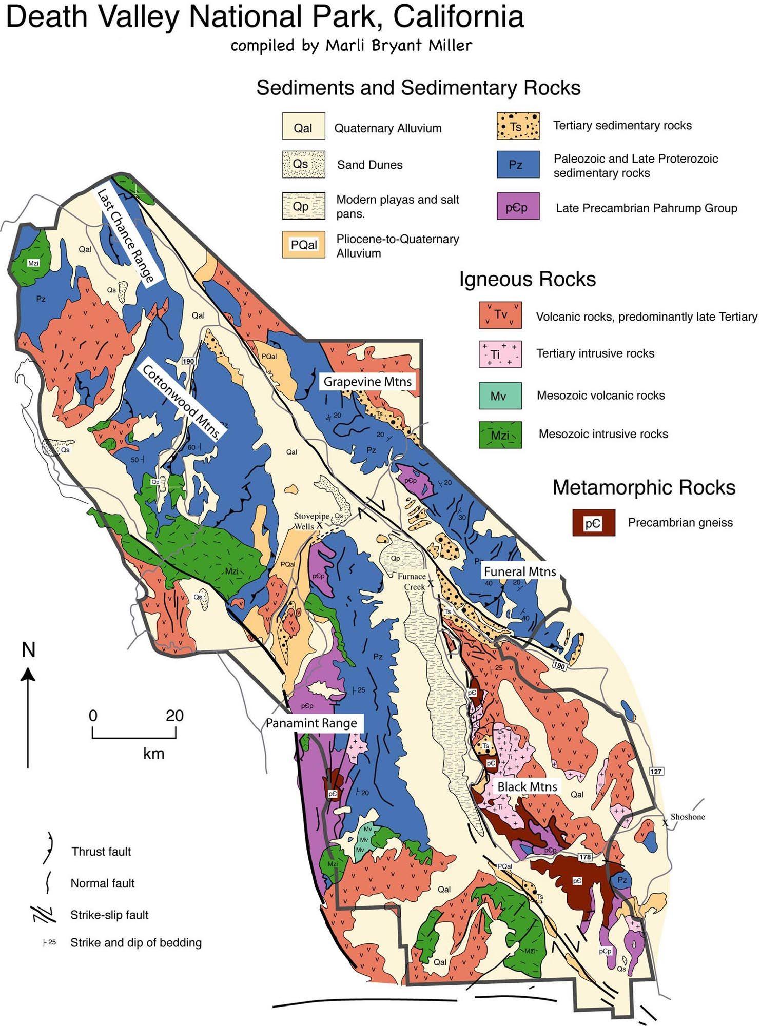 Death Valley Geologic Map | Arizona & California Trip | Pinterest ...