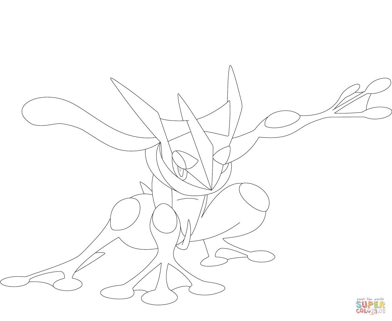 Pokemon Coloring Pages Greninja Pokemon Coloring Pages Pokemon