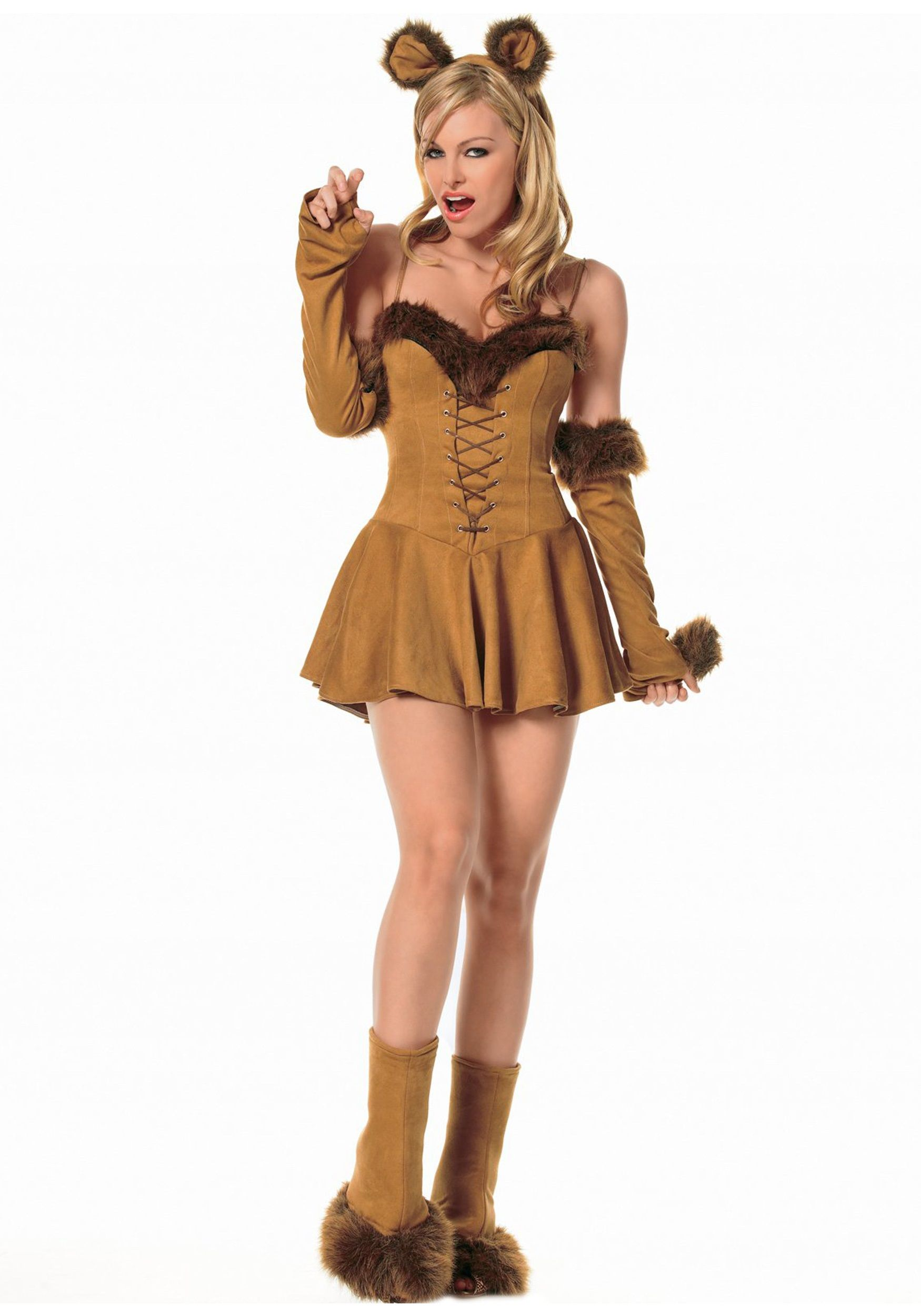 Sexy Cuddly Lion Girl Costume  d942c67ef