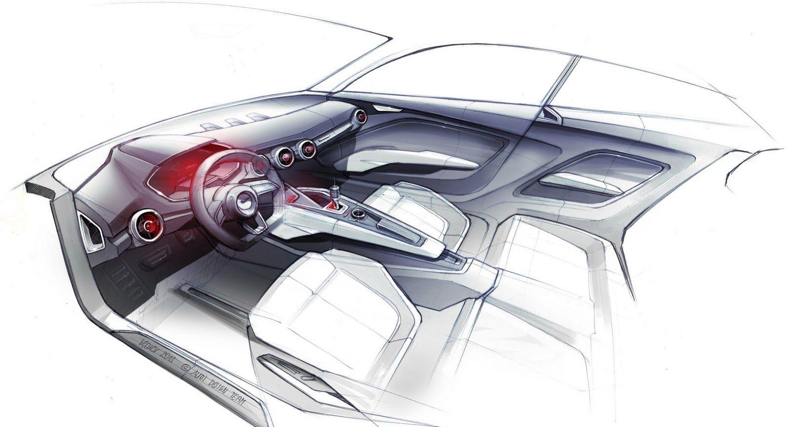 Audi Q8 Tail Light Design Sketch | Led light design