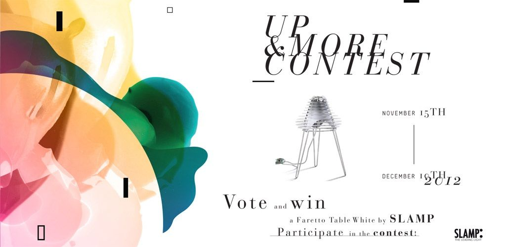 Lancia Up and More Contest. Vote and win a Faretto Table White by SLAMP. #contest