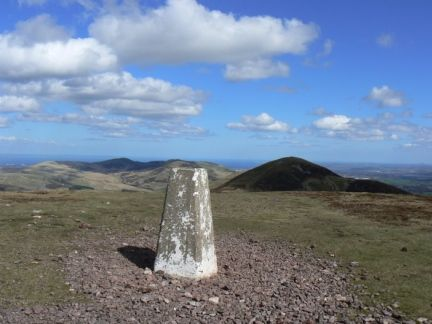 The summit of Scald Law in the Pentland Hills