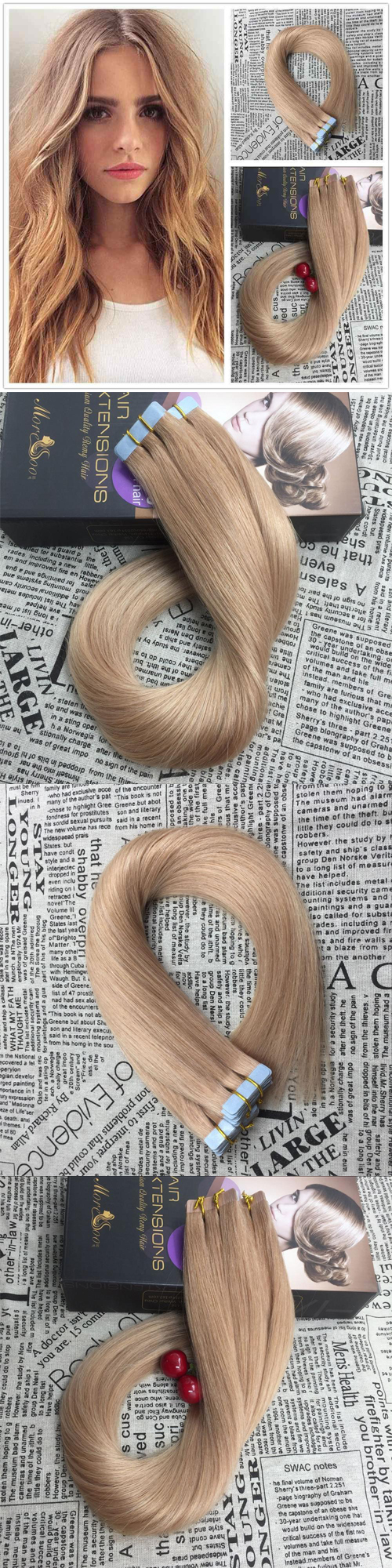 3299 Moresoo Strawberry Blonde Tape In Hair Extensionsget You