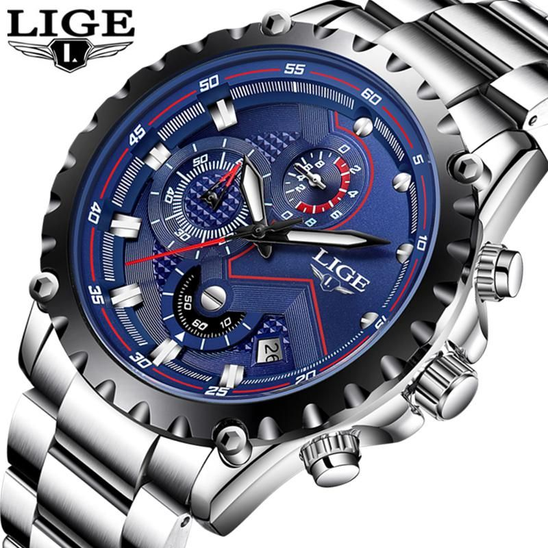 afb6844cd66 LIGE Watch Men Fashion Sport Quartz Clock Mens Watches Top Brand Luxury  Full Steel Business Waterproof
