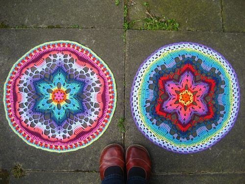 Lucy at attic 24 has been making the starflower mandalas from zootyowl. Gorgeous.