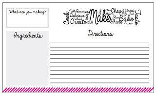 Free printable recipe cards!