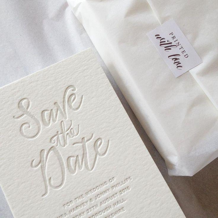 letterpress save the dates | Wedding | Pinterest | Letterpresses ...