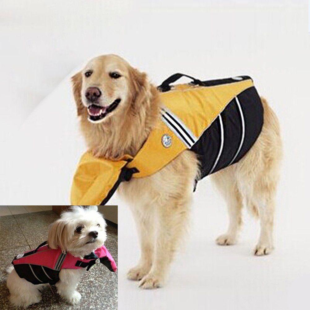 Ueetek Dog Life Jacket Vest Adjustable Pet Life Vest Durable