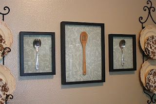 Wall Art for the Kitchen  - idea for antique finds