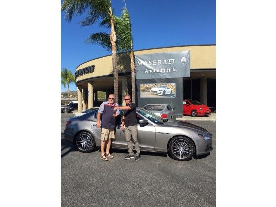What a stroke of luck... Pun intended...  Congratulations Kirk for winning a New Maserati... how? By making a hole in one!   #Maserati #Masi  #theAutoGallery #MayaAutoGallery #VanNuys #LosAngeles #CA  #Race #Super #Exotic #Sport #SUV #Performance #Italian #Car #Levante #Ghibli #Quattroporte #GranTurismo #Q4   #AWD #RWD