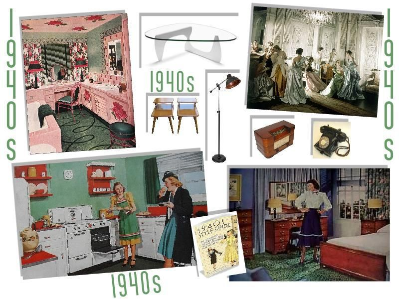Retro 1940s Interior Design
