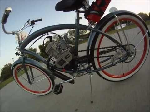 Corinne's Micargi Rover motor bicycle