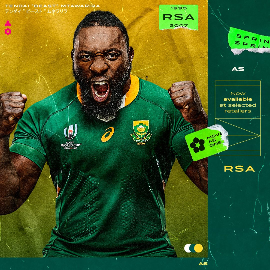 Asics Launch New Unstoppable Springbok Jersey For 2019 Rugby World Cup Springbok Jersey Springbok Rugby Springbok