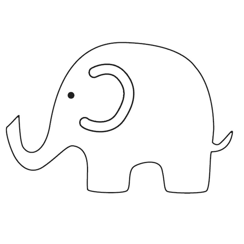 image regarding Printable Elephant Stencil named elephant printables Templates Elephant Illustrations or photos CARD