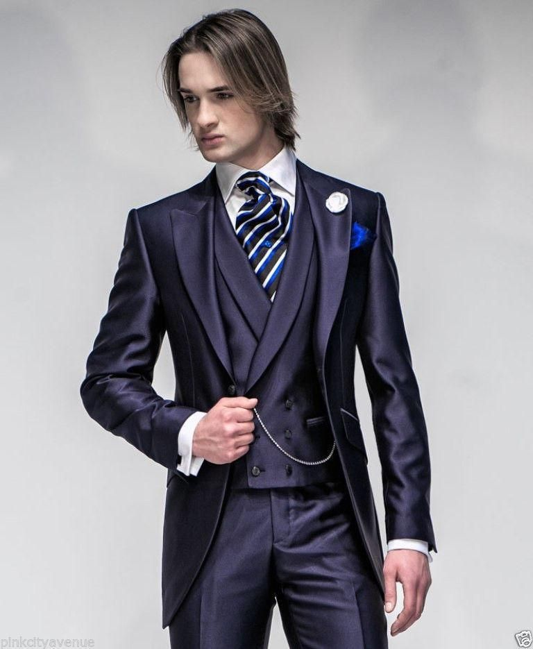 New Arrival Groom Tuxedos Groomsmen Mens Wedding Suits Dinner Party ...