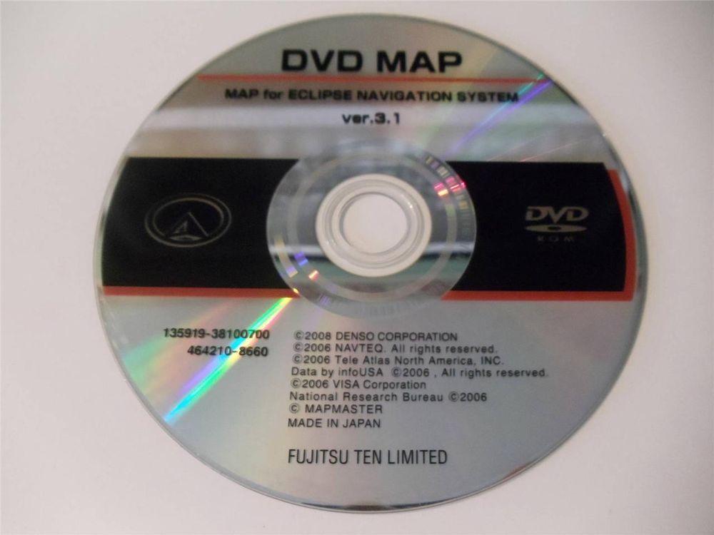 Genuine Toyota Lexus OEM DVD Navigation Map Disc North America