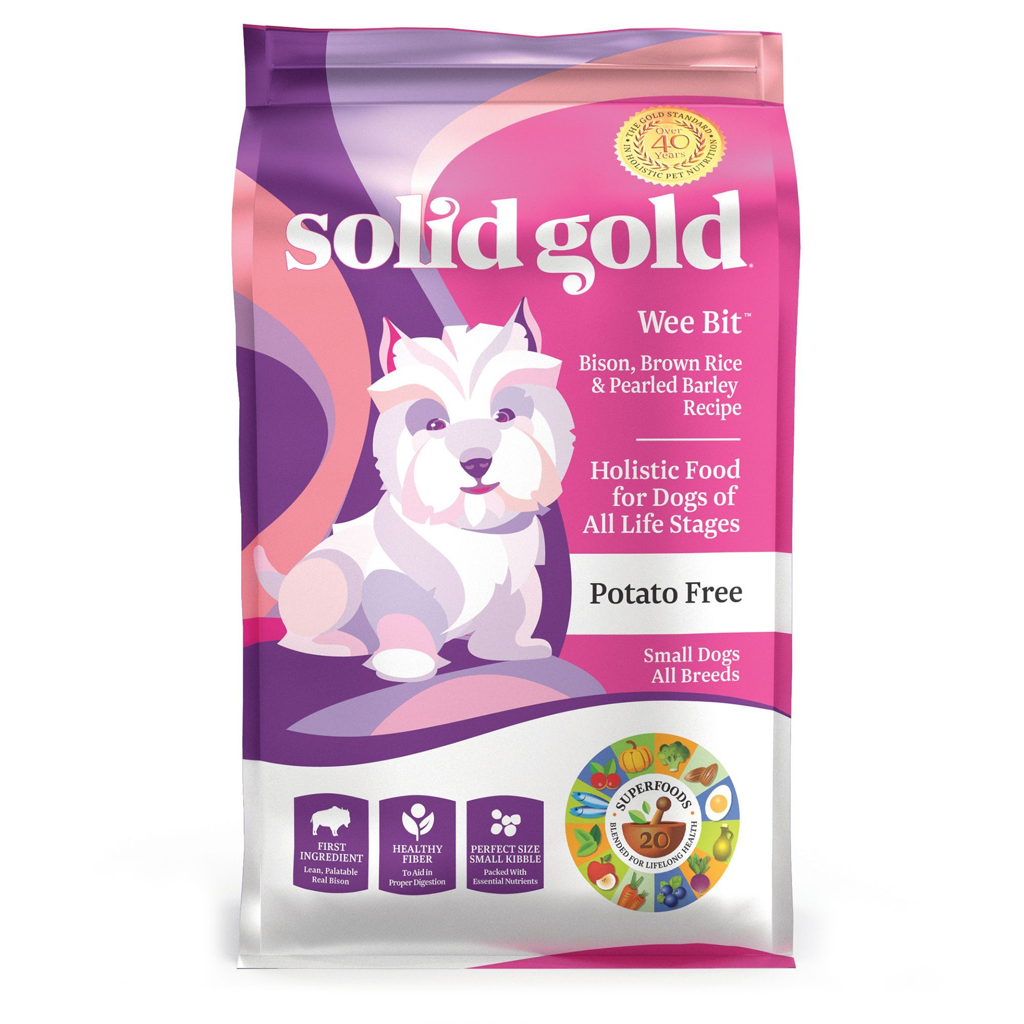 Solid Gold Wee Bit Dog Food Potato Free Bison Brown Rice And