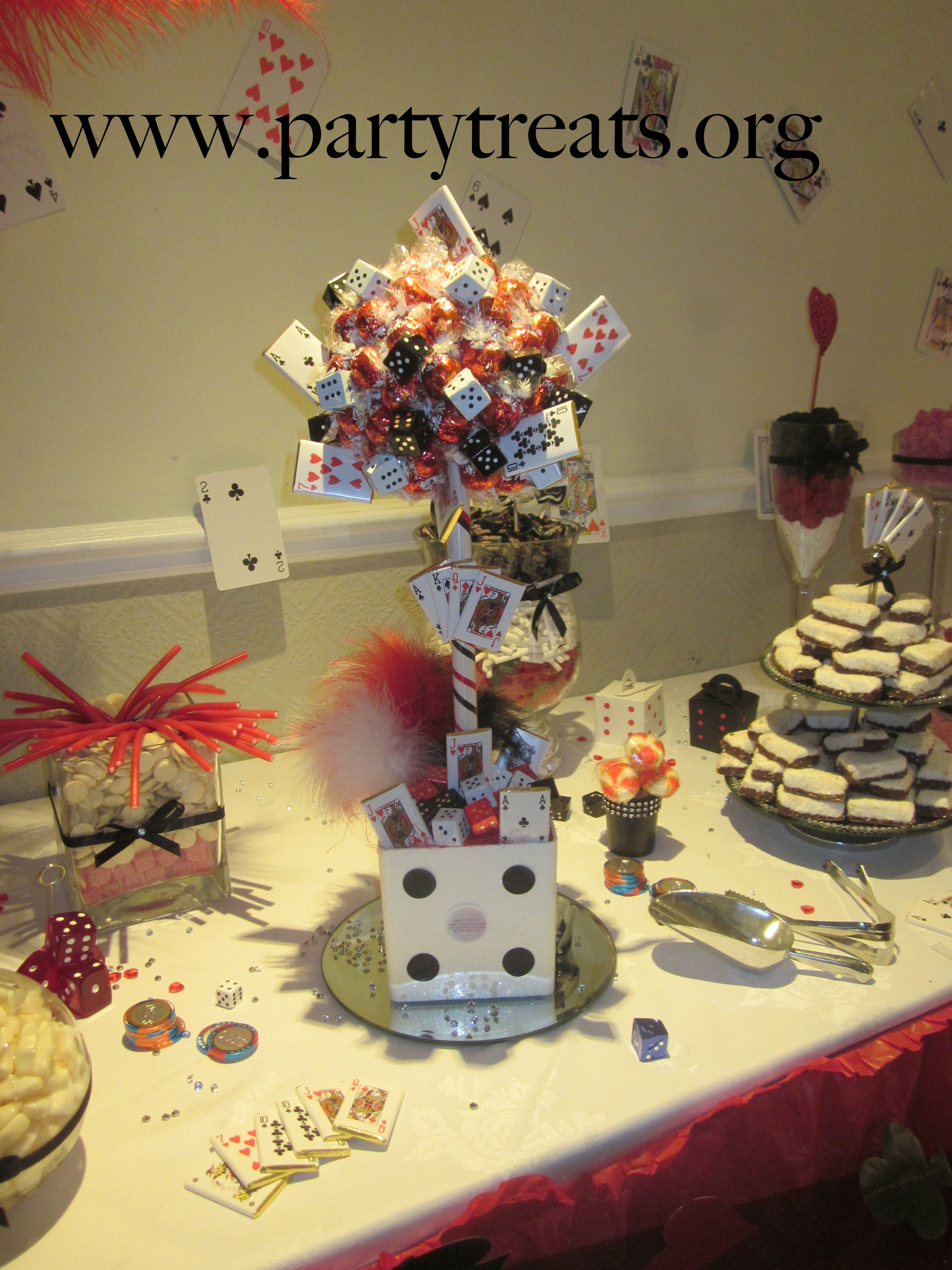 Casino Themed Candy Buffet