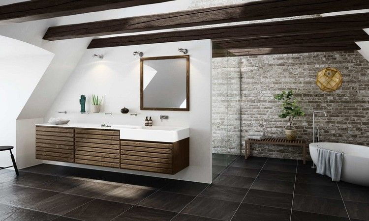 Salle de bain moderne en 90 id es d 39 am nagement r ussi for Amenagement salle de bain moderne