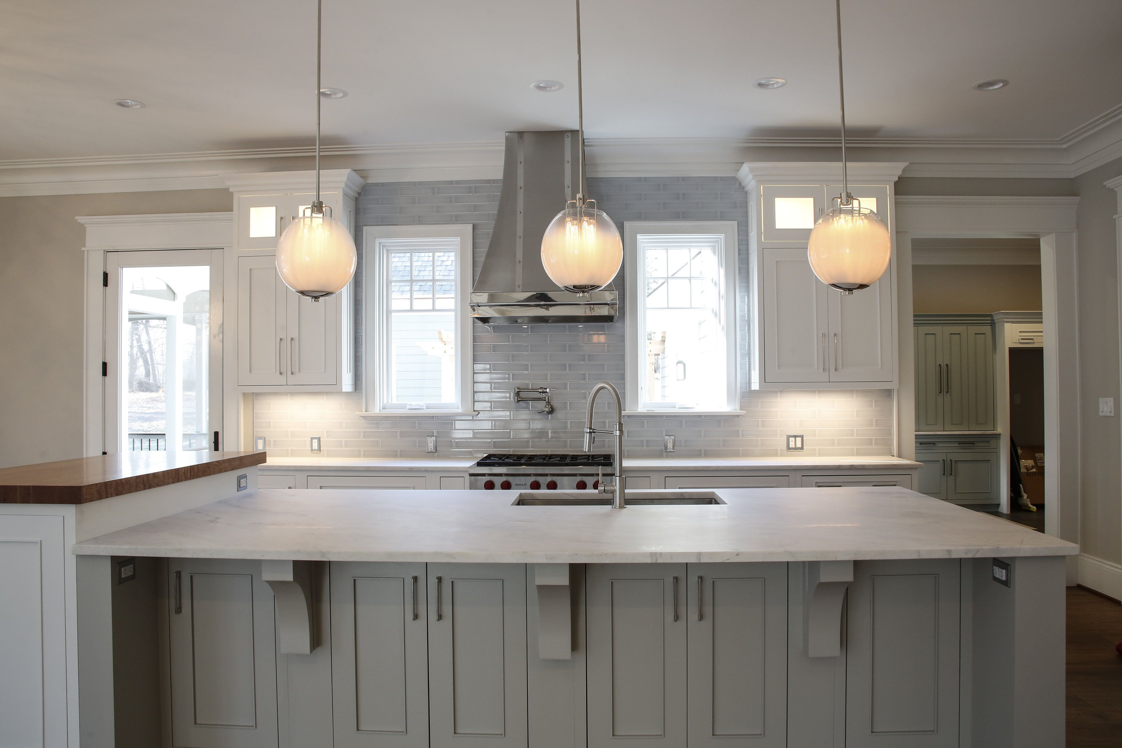 Lighting Designerin Schwartzprivate Home In Clifton Virginia Custom Kitchen Island Lighting Design Review