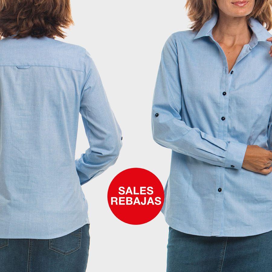Camisa azul celeste jacquard · Jacquard pale blue shirt http://bit.ly/CamisaCelestePR