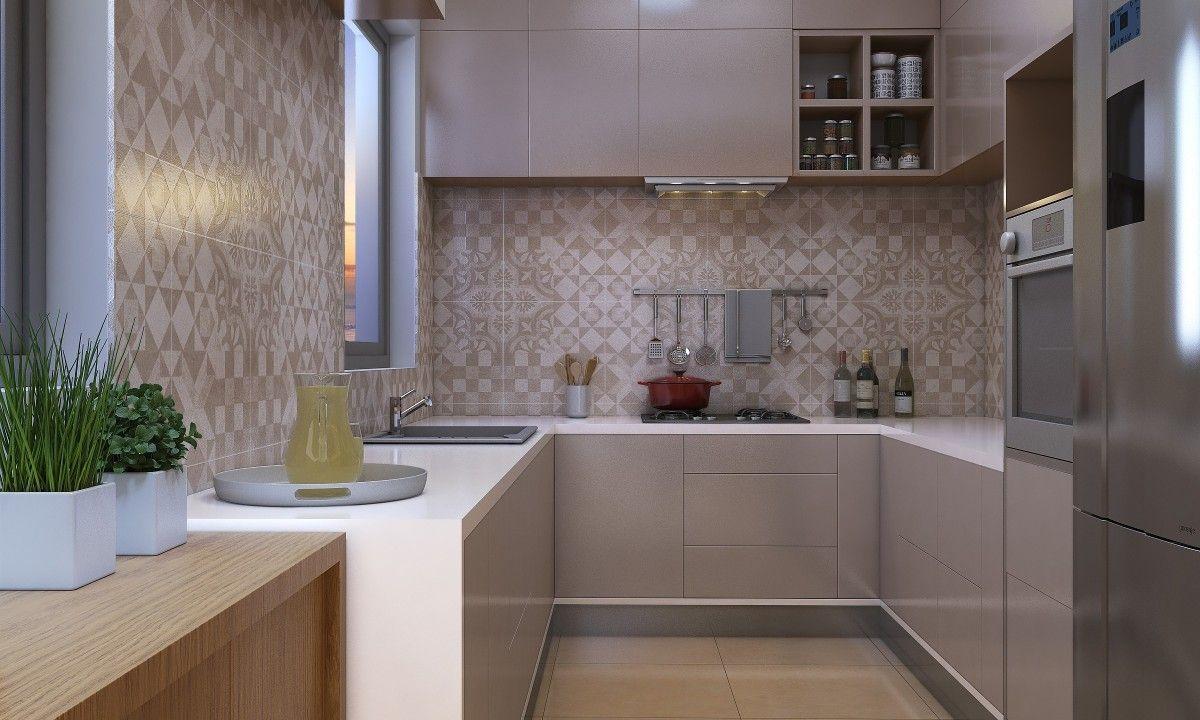 Morel U Shape Modular Kitchen