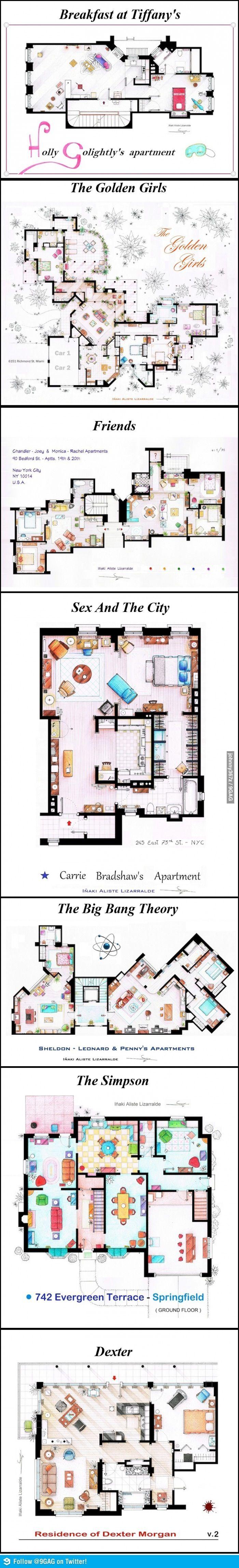 87 Tv Show Floor Plans Ideas Floor Plans How To Plan House Floor Plans