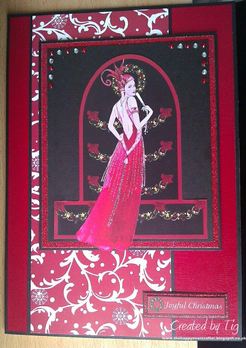 Art Deco Christmas Cards | art- Holiday Cards etc. | Pinterest ...